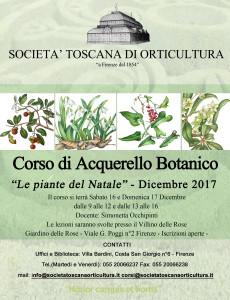 LOCANDINA CORSO ACQUERELLO BOTANICO - breve 17